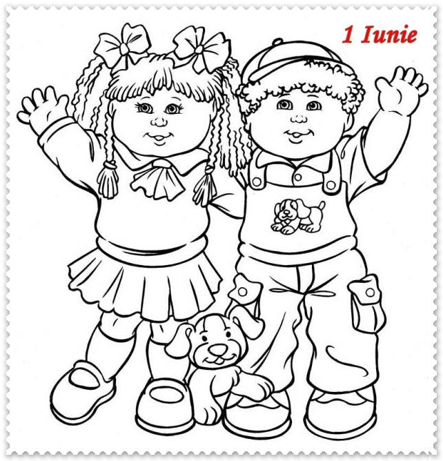 1 Iunie Ziua Copilului Planse De Colorat Planse De Colorat